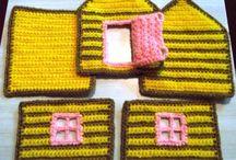 horgolt ház