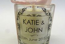 Candle Wedding Favours / Beautiful scented soy wax wedding favours personalised for your special day