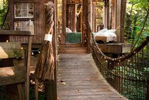 outdoor housing/tree houses / by Maggie Blau