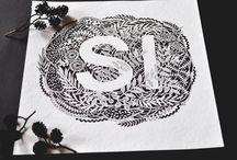 lettering, invitations, postcards by Nataliia Ignatiadi