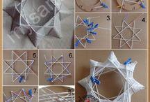 pletení z papíru a peddigu