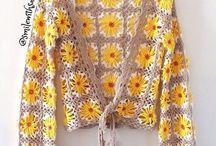 chaqueta vintage crochet