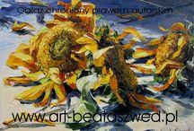 Flowers in oil paninting / Kwiaty w moim malarstwie