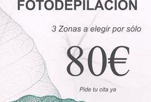 Fotodepilación 3 zonas a elegir por sólo 80€ / Fotodepilación ipl