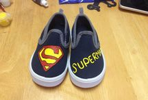 Shoes.  / Hand painted canvas shoes