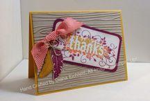 Seasonally Scattered Stampin' Up! Stamp Set Greeting Cards