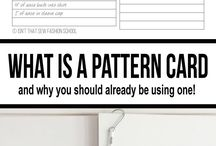 Pattern organising and pattern cards