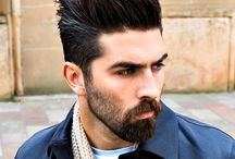 Beard and hairstyles