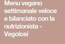 menu settimanale vegano