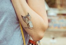 Cat People: Temp Tattoo / Cat people love images of cats so.... cat tattoos seem like a great idea.  Temporary Tattoos are fun to wear and change when the mood strikes us.  Some fun stuff here!