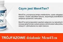 Czym jest Men4Ten? / Men4Ten, przyspiesza tempo metabolizmu, spala zalegający tłuszcz. Usuwa szkodliwe toksyny, wspomaga prawidłowe krążenie krwi w organizmie.
