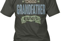 GRANDFATHER TEES / Gift ideas for Grandfather! Tees, Hoodies and Long-sleeves available in the style and color of your choice! By Cido Lopez