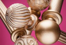 Modern Collection Poles / These stunning 35 & 48mm poles come in 16 finishes with 11 finial options