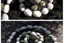 Taştan yapılmış bahçe Peyzajları