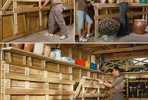 folding wall workbench