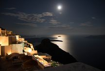 """Santorini • Full moon • Greece / """"Tonight, you may be sorrowful or silent, empty or alone, but you have the moon, and you have your breath, and in inhaling the wonder of these alone, you might find yourself wrapped in the soft shawl of gentle relief that this very moment is beautiful, and more than worthy of perfect love.""""  By Victoria Erickson"""