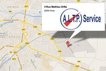 Agences ALTP / ALTP propose dans trois agences son matériel à la location ou à la vente :  Matériel de topographie Matériel de chantier Consommable de chantier Panneaux de signalisation Vêtements de protection Outillage professionnel