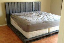 Bett aus Pailletten