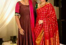 Mummy sarees