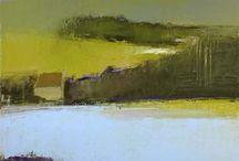 Abstrakt landskap kunst