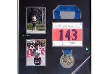 Sports Jerseys and Memorabilia / We know how to frame sports jerseys of all types. Check out some of our other sports stuff, like marathon medals and swim caps. All items are archivally framed and fully reversible.