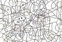 Jeux et activités / Avec plein de jeux et d'activités dans ce tableau, les enfants pourront passer leur temps en les coloriant et ensuite jouer ensemble !