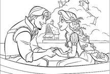 ディズニーの塗り絵