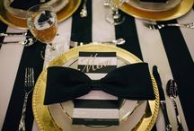 """{Trend} So ❝Classic❞ ✦ Black & Gold Wedding / Simple. Yet Elegant. """"Classically"""" inspired weddings feature bold lines and classic patterns in black, white, and gold color combinations. This look is never going out of style."""