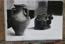 DRAWİNG (kömür kalem çalışmaları)