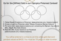 Classic Creations Olympic Colours / Enter our contest for a chance to win a Diamond Pendant! #Sochi2014