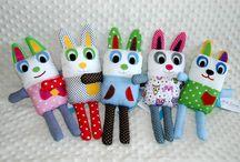 Przytulanki / Kolorowe przytulanki usypianki dla dzieci