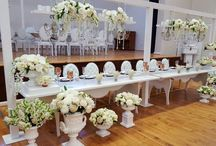 WHITE TABLE SETTINGS BY GRAND ROOM DESIGN