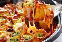 Pasta / Bakes spinnsge in lasagne