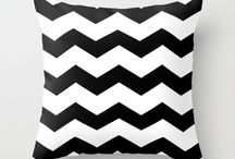 Black & White Pillow Collection / This is Limepepper Studios' Black & White Pillow Collection