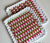 crochet dishcloth coaster free