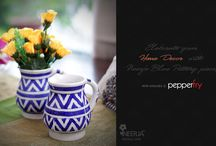 Neerja Blue Pottery / Beautiful Blue Pottery by Neerja that add elegance to your home.. Now also available on Pepperfry