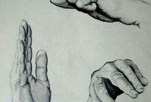 anatomi el göz çizimleri
