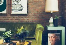 superior interior / things I like: color, wood, vintage + modern, white kitchens, art. / by Stacy