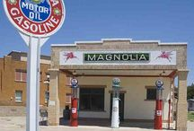 Route 66 gas stations.