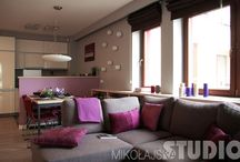 Mieszkanie w fioletach
