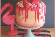 My cake / Pink flamingo drip cake