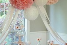 Cluster+of+tissue+poms+and+lanterns+perfect+for: party+decor+ nursery+decor