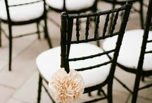 CMA Black chairs / Some ideas for how to decorate you Black chavari's for any event at any time of the year!