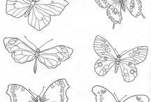 трафареты бабочки