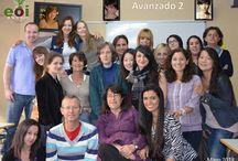 NUESTROS ALUMNOS / Si has estudiado en la EOI Goya y tienes fotos de tu grupo, puedes enviárnolas (y si estás en alguna foto y no quieres aparecer en el tablero, dínoslo, la quitaremos).