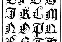 Kaligrafi alfabe