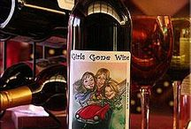 Wine from Girls Gone Wine winery / Girls Gone Wine is a boutique winery in Broken Bow, Oklahoma. These are our super cute labels and wines!