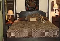 Prim bedroom.... / by Gail Napoliton Wilson