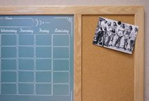 Cork, Fabric & Dry Erase Command Centers / We've combined our most popular Dry Erase Board designs with our versatile cork and fabric boards to make a super-useful, multipurpose command center the whole family will love!