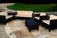 Patio Furniture Set Coffee Table Arm Chairs Outdoor Garden Sofa Rattan Large Big